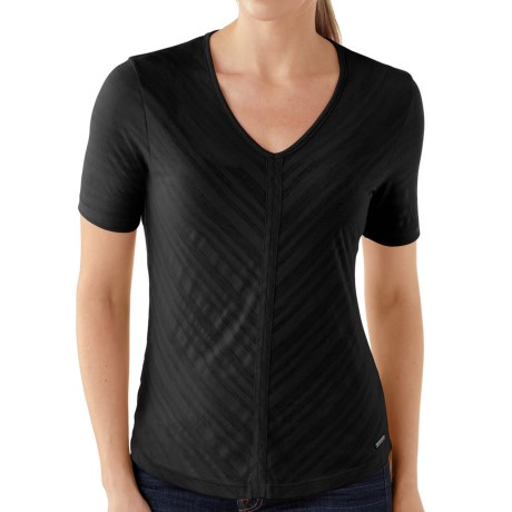 SmartWool North Lake Burnout T-Shirt - Merino Wool, Short Sleeve (For Women)