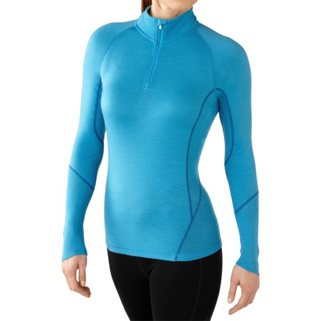 SmartWool NTS 195 Zip Neck Base Layer Top - Merino Wool, Long Sleeve (For Women)