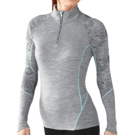 SmartWool NTS 195 Lightweight T-Shirt - Merino Wool, Zip Neck, Long Sleeve (For Women)