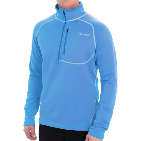 Cloudveil Run Don't Walk Pullover Jacket - Fleece Lining, Zip Neck (For Men)