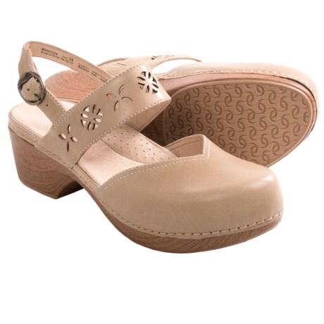 Dansko Trista Closed-Back Clogs - Leather (For Women)