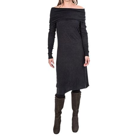 Tommy Bahama Hobart Off-the-Shoulder Dress - Viscose-Wool, Long Sleeve (For Women)