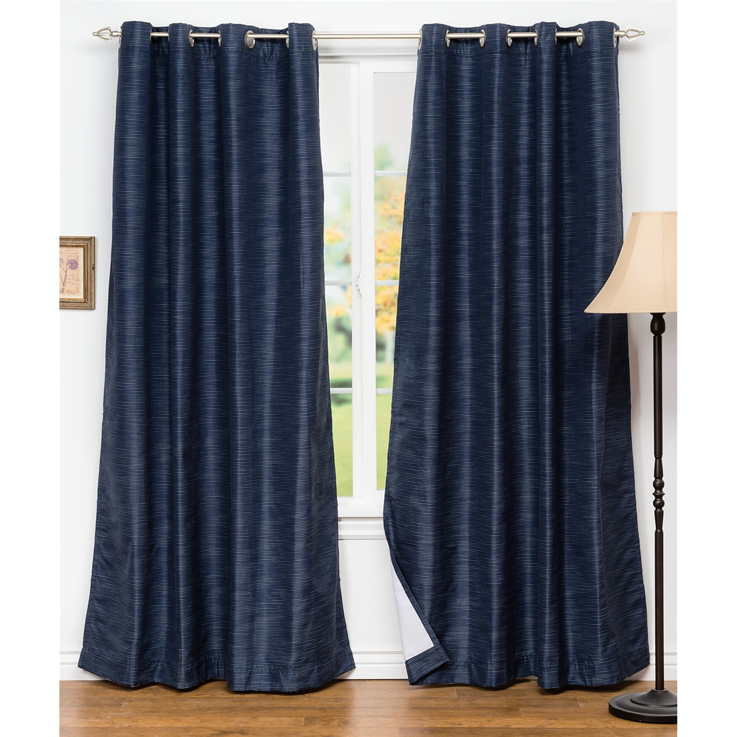 United Curtain Co Brighton Blackout Curtains 108x63 Grommet Top 8251h Save 52