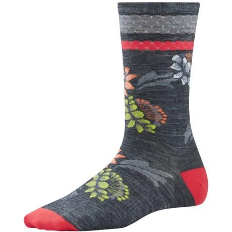SmartWool Blossom Bitty Socks - Merino Wool, Crew (For Women)