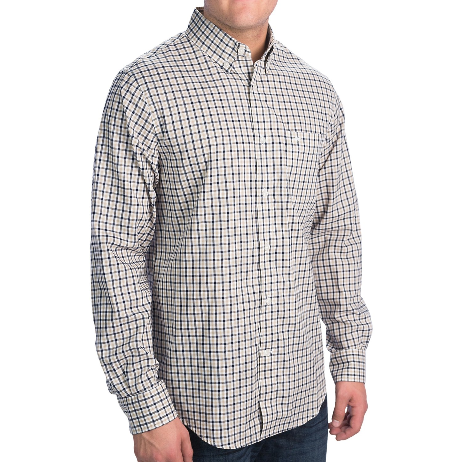 Dockers no wrinkle check shirt for men 8282p save 56 for Dockers wrinkle free shirts