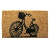 """Entryways Bike Welcome Doormat - 17x28"""""""