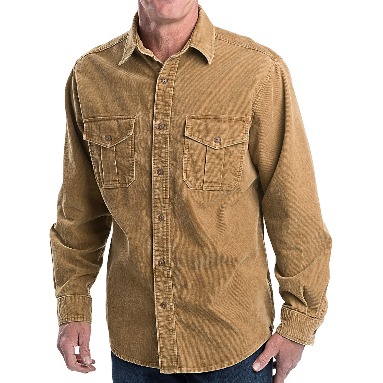 Corduroy Shirt Jacket: Your favorite silhouette, now in the soft corduroy you adore! Appealing seam detail creates the perfect shape and fit. Appealing seam detail creates the perfect shape and fit. Flap pockets at chest, long sleeves with button and cuff.