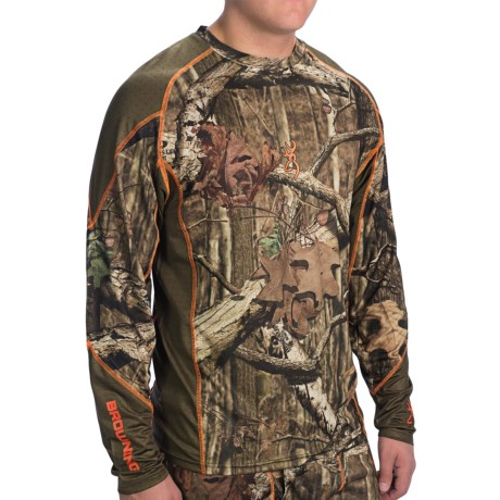 Browning Hell's Canyon Lightweight Base Layer Top - Long Sleeve (For Big Men)
