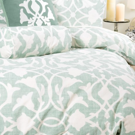 Barbara Barry Poetical Duvet Cover - Full-Queen, Cotton Percale