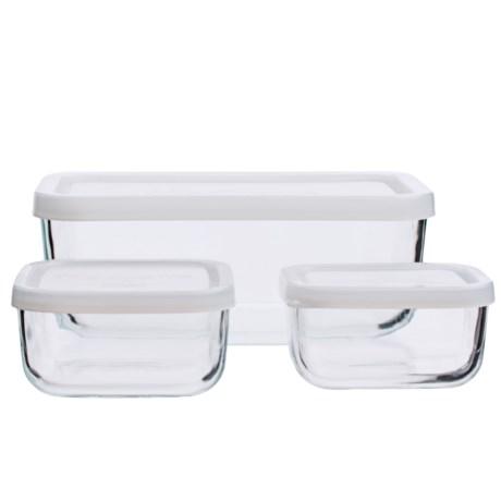 Bormioli Rocco Glass Food Storage Container Set - 3-Piece