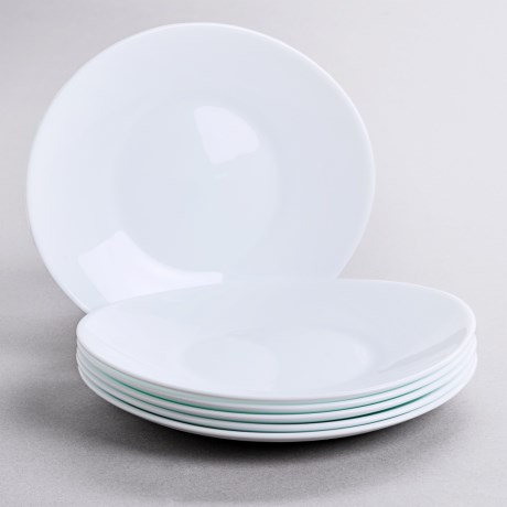 Bormioli Rocco Prometeo Dessert Plates - Tempered Opal Glass, Set of 6