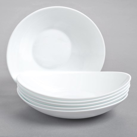 Bormioli Rocco Prometeo Pasta Bowls - Tempered Opal Glass, Set of 6