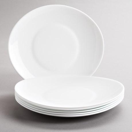 Bormioli Rocco Prometeo Dinner Plates - Tempered Opal Glass, Set of 6