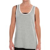 dylan Heathered Panel Tank Top - Stretch Rayon (For Women)