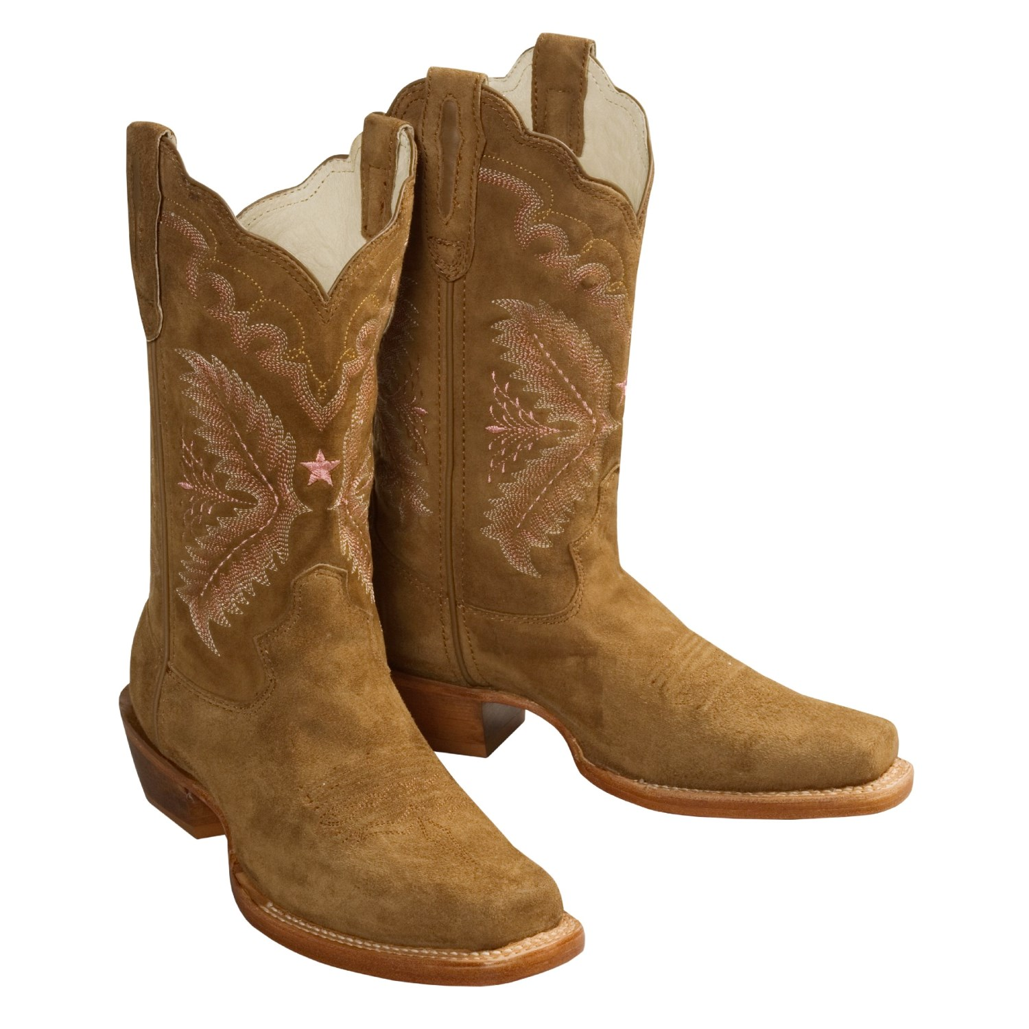 stetson classic suede western boots with square toe for