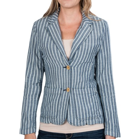 dylan Herringbone Stripe Boyfriend Blazer (For Women)