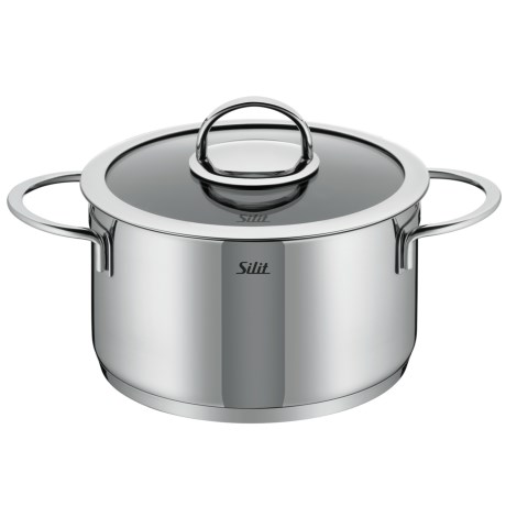 Silit Vignola High Casserole with Lid - 18/10 Stainless Steel, 4 qt.