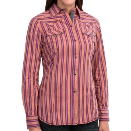 Tin Haul Multi-Stripe Western Shirt - Snap Front, Long Sleeve (For Women)