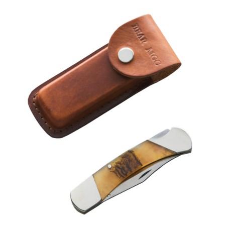 Bear & Son Cutlery Ram Horn Pro Lockback Knife