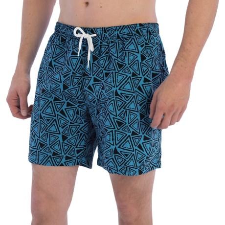 """Trunks Surf & Swim Co. San O Print Swim Trunks - 7"""" (For Men)"""