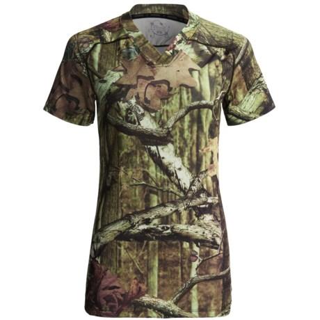 Terramar Camo Essentials Stalker T-Shirt - V-Neck (For Women)