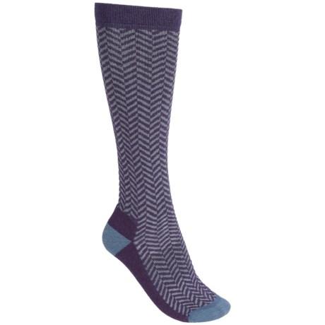 Woolrich Herringbone Knee-High Socks - Merino Wool, Over the Calf (For Women)