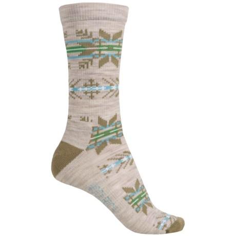 Woolrich Novelty Snowflake Stripe Socks - Merino Wool, Crew (For Women)