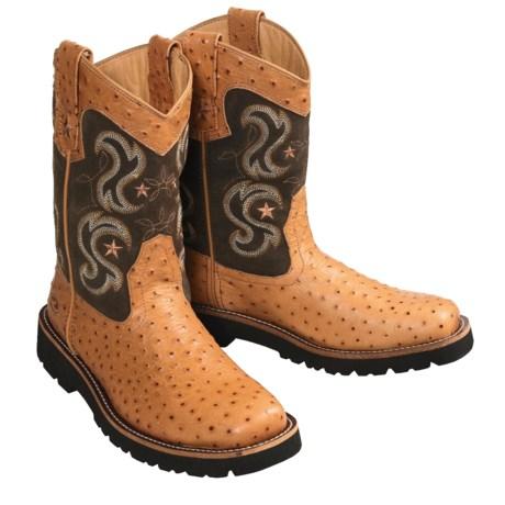 Roper Bigz Western Boots - Faux Ostrich Print (For Men)
