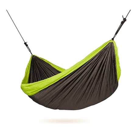 Double Travel Hammock with Integrated Suspension