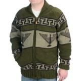 Laundromat Phoenix Wool Sweater - Fleece Lining, Full Zip (For Men)