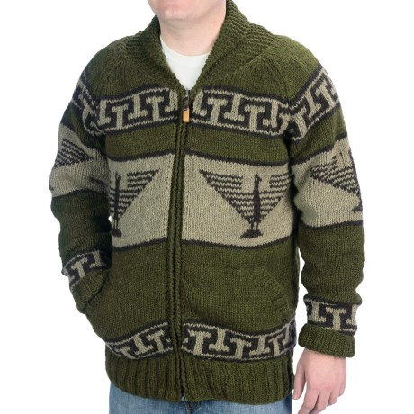 Laundromat Phoenix Wool Sweater - Fleece Lining, Full Zip (For Men)
