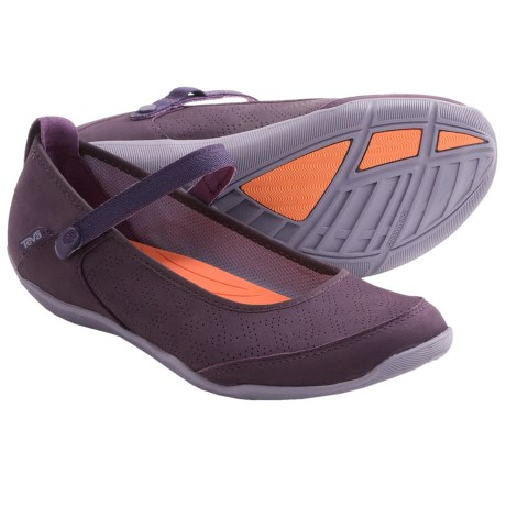 Teva Niyama Flat Perf Shoes - Leather (For Women)