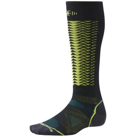 SmartWool PhD V2 Downhill Racer Socks - Merino Wool, Over the Calf (For Men and Women)