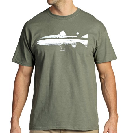 ExOfficio Fish on the Line T-Shirt - Short Sleeve (For Men)