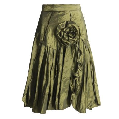 Jon by Teri Jon Sports Petal Hem Skirt - Crinkle-Taffeta (For Women)