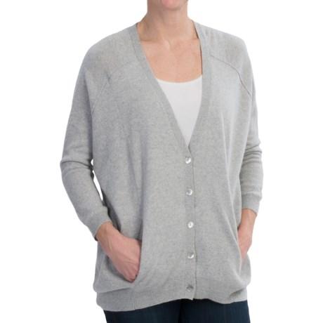 Brodie Boyfriend Fit Cardigan Sweater - Cashmere (For Women)
