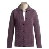 Peregrine by J.G. Glover Aran Cable-Knit Cardigan Sweater - Peruvian Merino Wool (For Women)