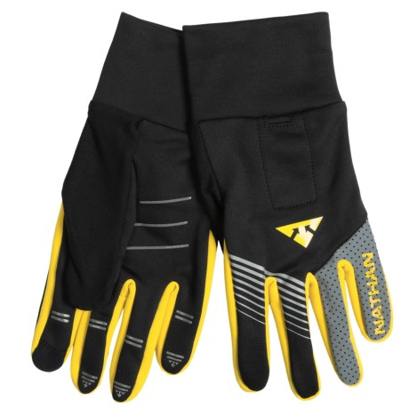 Nathan Bronco Reflective Running Gloves - Touch-Screen Compatible (For Men)