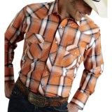Roper Plaid Western Shirt - Snap Front, Long Sleeve (For Men)