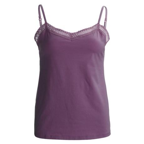 Calida Allure Lace Camisole - Stretch Cotton, Spaghetti Strap (For Women)
