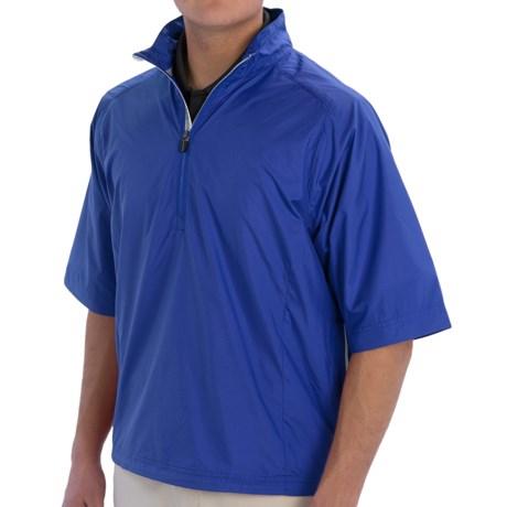 Zero Restriction Cloud Pullover Jacket - Zip Neck, Short Sleeve (For Men)