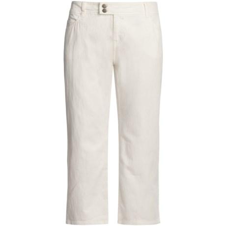 Womyn Hutton Crop Pants - Stretch Slub Denim (For Women)