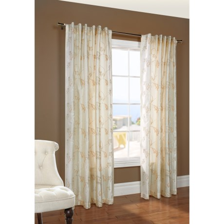 "Design Decor Cantebury Embroidered Curtains - 108x96"", Back Tab Top"