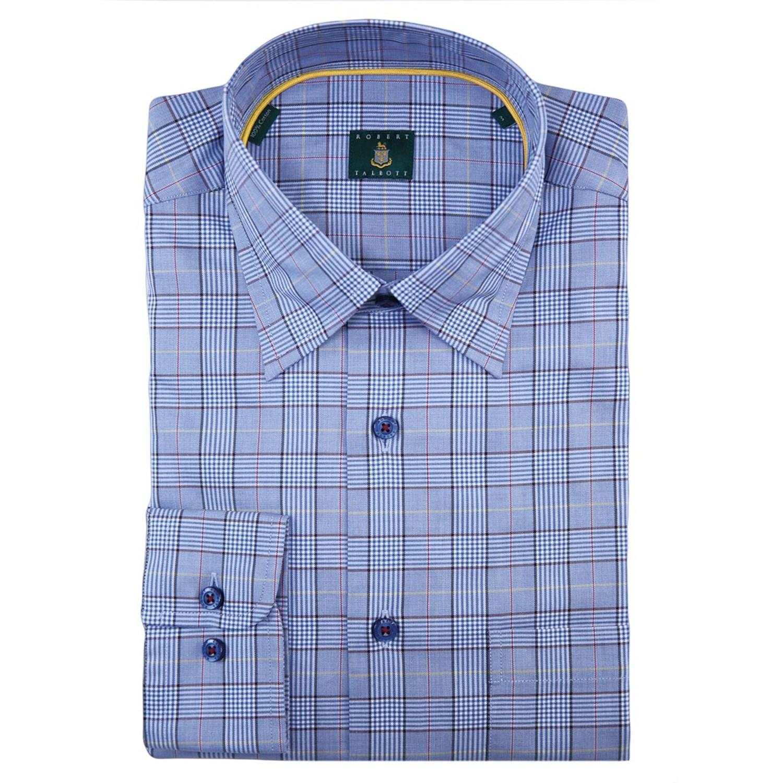 Robert talbott check sport shirt for men 8497w save 44 for Hidden button down collar shirts