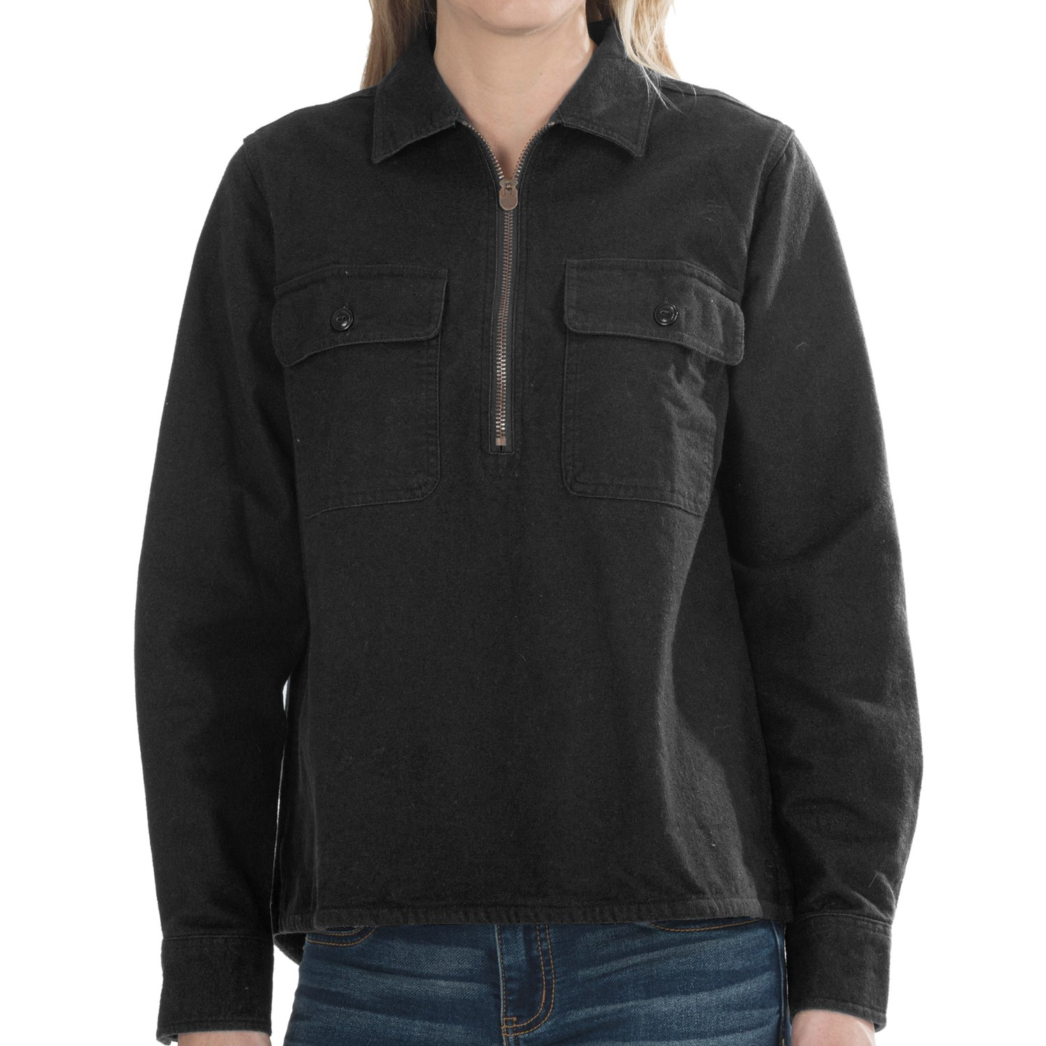 Woolrich White Label Chamois Zip Shirt (For Women) 8519M