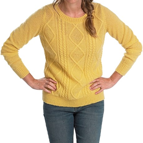 Woolrich Cable Mohair Sweater (For Women)