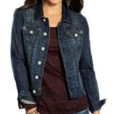 Rock & Roll Cowgirl Rhinestone Rivet Jean Jacket (For Women)
