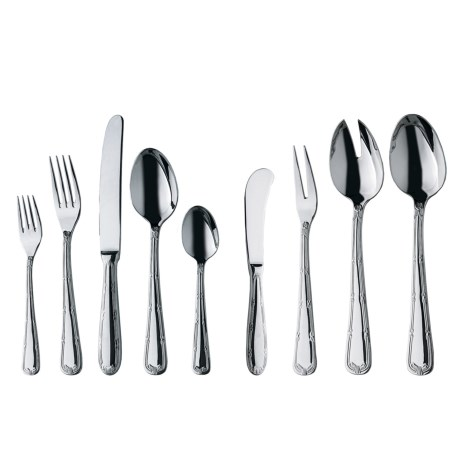 WMF Crossband Flatware Set - Cromargan®18/10 Stainless Steel, 44-Piece