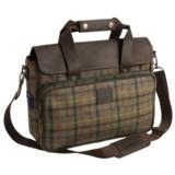 Barbour Tweed Wool Briefcase Bag