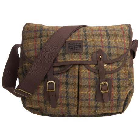 Barbour Tweed Wool Tarras Messenger Bag